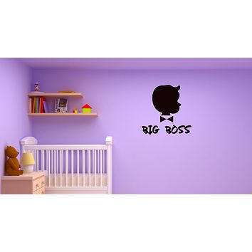 Wall Decal Big Boss Inscription Funny Baby Kids Room Vinyl Sticker (ed1330)