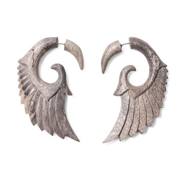 16g Carved Tamarind Wood Wing Faux Wing Talons