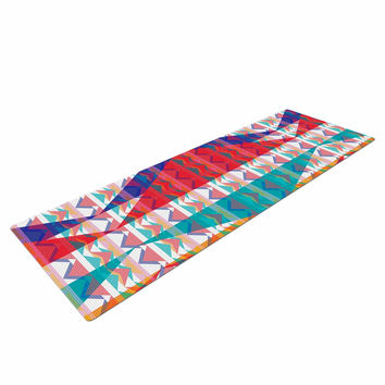 "Miranda Mol ""Triangle Illusion"" Multicolor Geometric Yoga Mat"