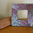 Frame Painted Red Black and White by Acires on Etsy