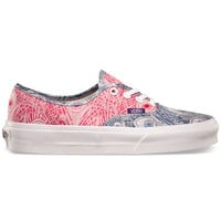 Vans Liberty Authentic Womens Shoes Peacock/True White  In Sizes