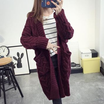 Heavy Cable Cardigan