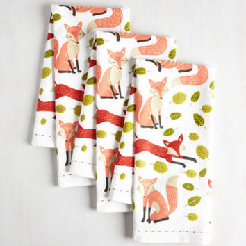 Dorm Decor Good Keen Fun Tea Towel Set by ModCloth