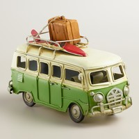 Green Metal Van Decor
