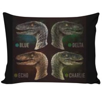 Jurassic world velociraptor pillowcase