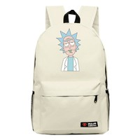 High-Q cartoon Rick and Morty 2016New Arrival Backpack students Couple Printing candy color leisure bags