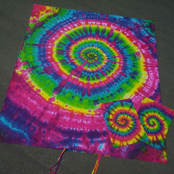 Rainbow Dreams - Sheet Set OR Duvet Cover Set - with matching  pillow cases - Organic Cotton - Tie Dye