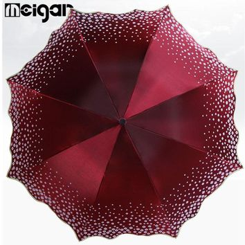5 Color Pear Flower Blossom Parasol Beach Umbrella Folded Adult Lace Sun Umbrella Sunny Umbrella Rain Women