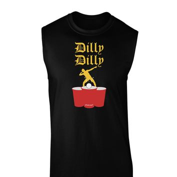 Dilly Dilly Funny Beer Dark Muscle Shirt  by TooLoud