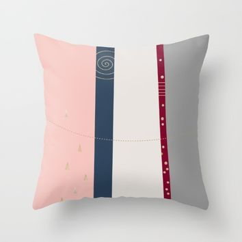 a few golden dots Throw Pillow by Ia Po