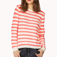 FOREVER 21 Laid Back Striped Sweater