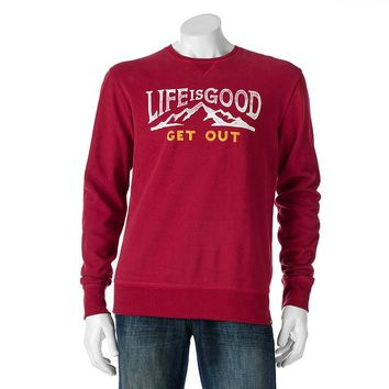 Life Is Good Enjoy The Ride Fleece Crew- Men