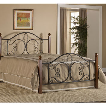 1422-milwaukee-wood-post-bed-full-bed-frame-included - Free Shipping!