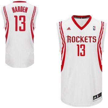 Mens Houston Rockets James Harden adidas White Replica Home Jersey