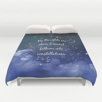 Thoughts and stars... Duvet Cover by Kate