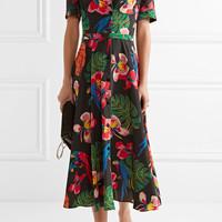 Valentino - Printed silk crepe de chine shirt dress