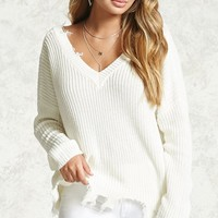 Contemporary Frayed Sweater