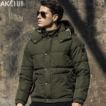 Down Jacket Content Filling Grey Duck Down Content 80% Thick Outwear Waterproof Men Down Jacket Warm