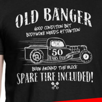 Funny 50th Birthday Old banger t-shirt. Funny Car guy t-shirt. Mechanic shirt. 1967 shirt for grandfather grandpa dad father cool OLDB-50