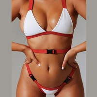 Bandage Buckle Brazilian Micro Swim Bathing Suit for Female