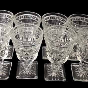 Indiana Glass Company Park Lane Cordial Glasses Set of Eight