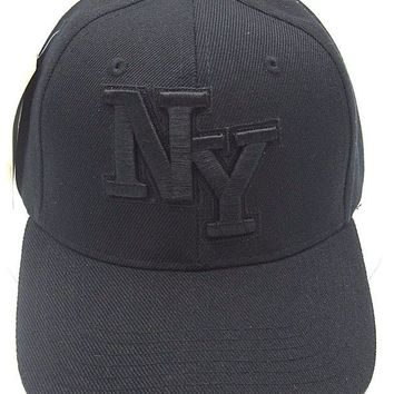 DCK4S2 NY NEW YORK City Cap Hat NYC Black OSFM Adjustable New