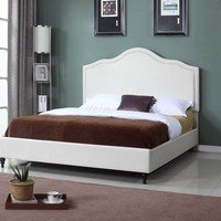 "New Century® Ivory Linen 51"" Inches Headboard Platform Bed"