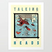 Talking Heads Limited Edition Music Poster Print Art Print by Nick Howland