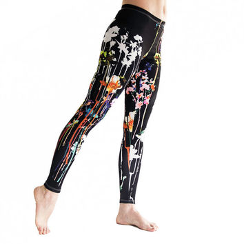 Limited Edition, Neon Flowers  leggings , Exclusive  women leggings, A+