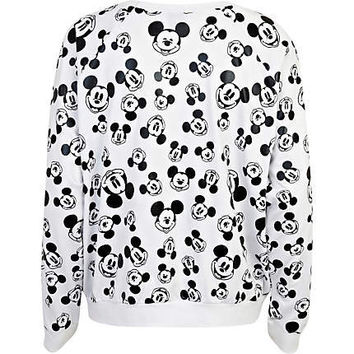 Black and white Mickey Mouse print sweatshirt - t-shirts / tanks / sweats - sale - women