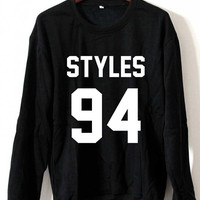 One Direction Sweatshirt Harry Styles Sweaters Styles 94 Logo Black, White, Gray, Maroon Unisex Sweaters Tee S,M,L,XL #1