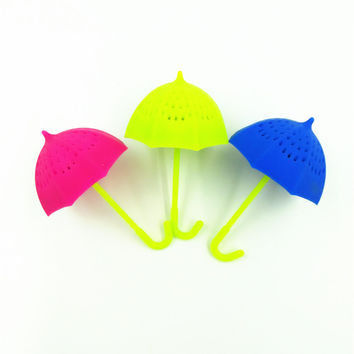Lovely Umbrella Silicone Leaf Home Decor Hot Sale Tea Filter [6281695942]