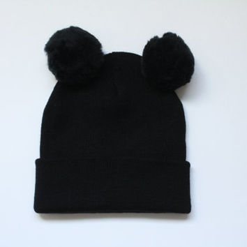 10% OFF AUTUMN SALE- Mickey Mouse Slouch Beanie, Hat with minnie ears, Mickey ears, slouched beanie, beanie with bow, grunge mickey mouse,