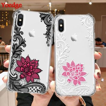 Flower Clear Airbag Shockproof Phone Case