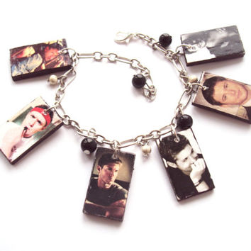 Supernatural Dean Charm Unisex Handmade Bracelet with Photos of Jensen Ackles - Fan Gift for Him or for Her - Made in Ukraine