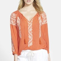 Hinge® Embroidered Top | Nordstrom