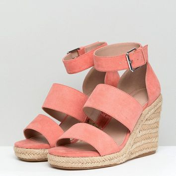 ASOS TAFFY Wide Fit Espadrille Wedges at asos.com