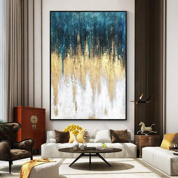Original Modern Abstract acrylic Painting on canvas art Gold nordic Extra large abstract wall pictures home decor texture cuadros abstractos