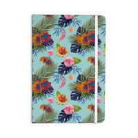 "Nika Martinez ""Tropical Floral"" Blue Flowers Everything Notebook"