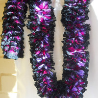 Scarf Knitting. Handmade in Glitzy Christmas Colors. Ready to ship