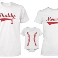 365 In Love Daddy or Mommy or Baby Family Matching Baseball T-shirt Set