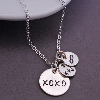 XO Necklace, Hugs and Kisses Jewelry, Valentine's Day Jewelry Gift