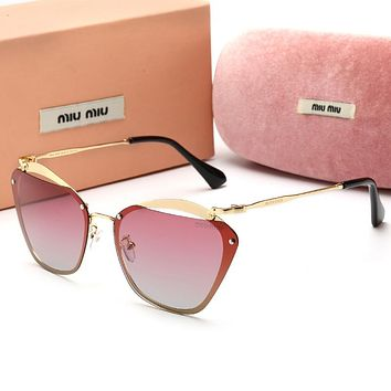 MIU MIU Fashionable Ladies Chic Sun Shades Eyeglasses Glasses Sunglasses