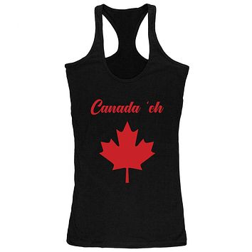 Canada Day 'Eh Pun Red Juniors Soft Tank Top