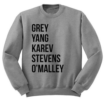 Greys Anatomy Sweatshirts Women Letter Printed Crewneck Long Sleeve Hoodies Pullover Autumn Winter Plus Size Women Hoodies S-3XL