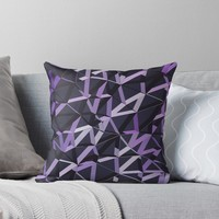 '3D Futuristic GEO Lines VIX' Throw Pillow by Creative BD