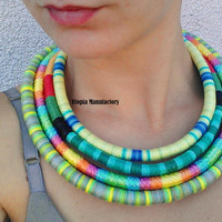 African Over-Sized Statement Necklace