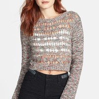 Rubbish Open Knit Crop Sweater (Juniors)
