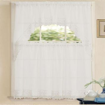 Isabella Complete Tier Swag Set Kitchen Curtain