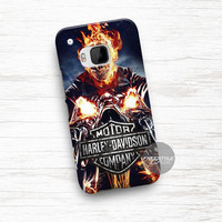 Burning Harley Davidson Ghost Rider HTC One Case Cover Series